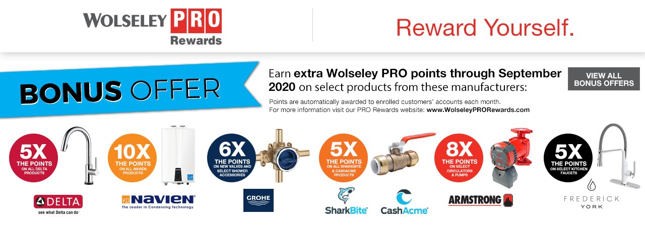 PRO Rewards Bonus Offers - September