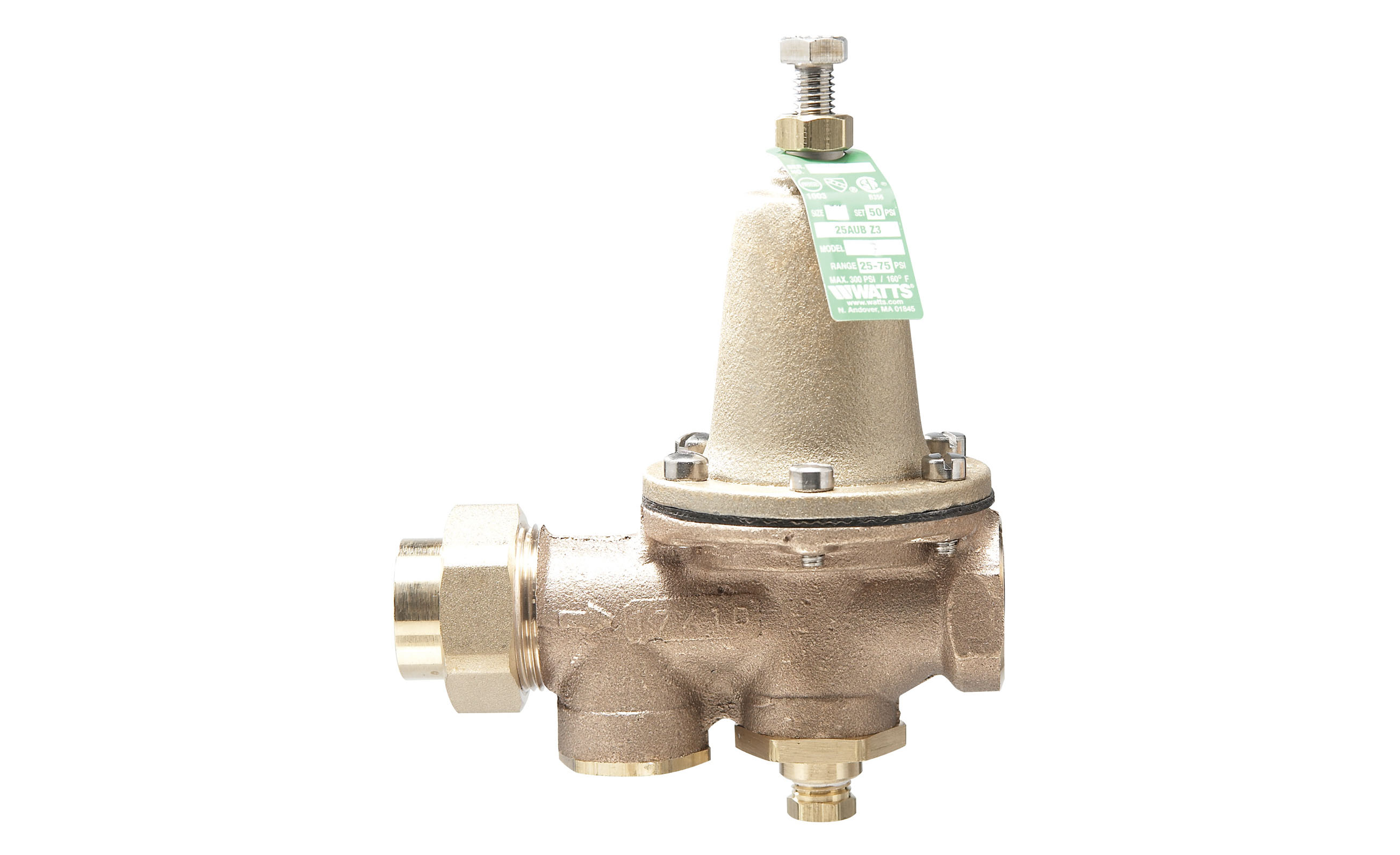 WATTS PRESSURE REDUCING VALVES